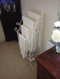 Shabby Chic Towel Bar Antique White Hanger Metaltowel Bathroom On Etsy 25 99 Remodel Ideas Pinterest Towels