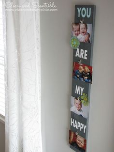 Super Cute DIY Photo Board { lilluna.com }