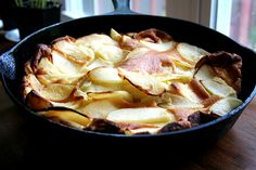 big apple pancake, just baked