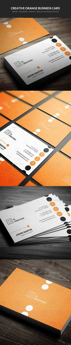 Creative Orange Business Card Template #design #visitenkarte Download: http://graphicriver.net/item/creative-orange-business-card-14/12268505?ref=ksioks