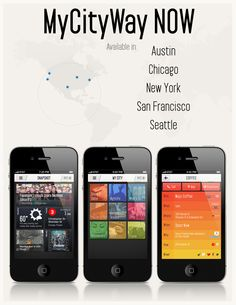 We've officially added four major cities to our MyCityWay NOW app. Navigate AUSTIN, CHICAGO, SAN FRANCISCO, SEATTLE, and of course, NYC!    Download the FREE app here: http://itunes.apple.com/app/mycityway-now/id516533051?mt=8    #ATX #CHI #SEA #SF #NYC #travel #travelbloggers #free