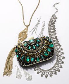 Adore the art deco accessory trend for party season.