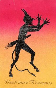 Krampus, Duiveltjes. 9x; illustratoren