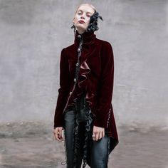 Punk Noble Palace Women Dovetail Winter Dust Coat