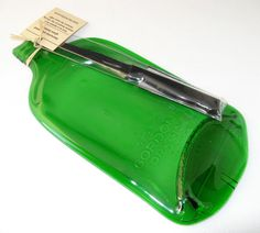 newly listed Flat Gordon's gin bottle cheeseboard with knife by KilnFiredArt, £18.00