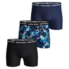 Blue//Black Bjorn Borg 2-Pack Camo /& Solid Boys Boxer Trunks