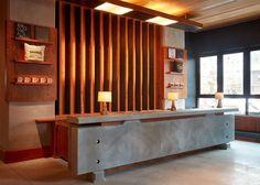 Open Hotel, Roman And Williams, Public Hotel, New York Studio, Precast Concrete, Hotel Amenities, Hotel Branding, Building Facade, Create And Craft