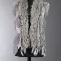 Luxury Fur Gilet Grey sale now 20% off Limited Availability only 5 left be quick