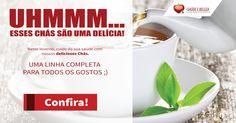 O Inverno esta ai e nada melhor para se cuidar que um delicioso chá! Nesse inverno cuide de sua saúde com nossos deliciosos Chás. Não perca a #SuperPromoção da loja Mais Saúde e Beleza!  E ainda temos muitas ofertas todos os dias para você cuidar da Saúde com economia. Confira!  http://www.maissaudeebeleza.com.br/d/5/chas-funcionais?utm_source=pinterest&utm_medium=link&utm_campaign=Deliciosos+Chás&utm_content=post
