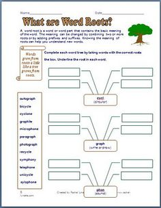 Prefix, Suffix, and Roots Printables  - Pinned by @PediaStaff – Please Visit  ht.ly/63sNt for all our pediatric therapy pins