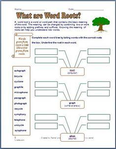 5 Prefix, Suffix and Root Printables!