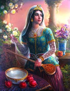 Hojatollah Shakiba - Part Persian Ancient Miniatures Gallery Indian Women Painting, Indian Paintings, Santa Sara, Persian Warrior, Jean Leon, Empire Ottoman, Persian Beauties, Ancient Persian, Persian Culture