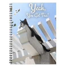 Yeah You Got This Spiral Note Book. #motivation #cat #getmotivated