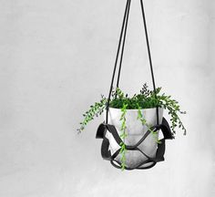 || leather plant hanger