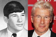 Richard Gere From 16 to Actors Then And Now, Celebrities Then And Now, Young Celebrities, Hollywood Celebrities, Celebs, Celebrity Yearbook Photos, Celebrity Pictures, Celebrity News, High School Photos