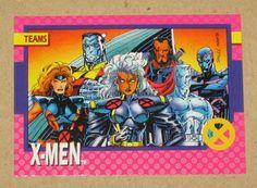 X-Men Series 1 (Impel 1992) Card #71 X-Men VG