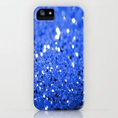 blue glitter phone case