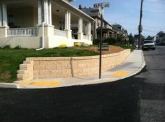 Front Yard Retaining Wall Installation Ideas in Hanover, PA by Ryan's Landscaping