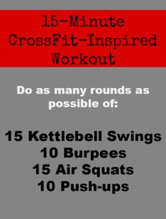 A Quick and Sweaty CrossFit-Inspired Workout - - A Quick and Sweaty CrossFit-Inspired Workout Fat-Burning Workouts A Quick and Sweaty CrossFit Inspired Workout – great for fitting in on vacations in hotel gyms Kettlebell Training, Crossfit Kettlebell, Training Fitness, Fitness Tips, Fitness Motivation, Health Fitness, Kettlebell Benefits, Kids Fitness, Muscle Training