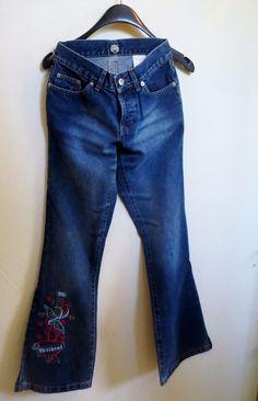 Wildcat Jeans 27/32 Mit Vogelmotiv! Neu