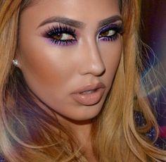 Purple and nude lips