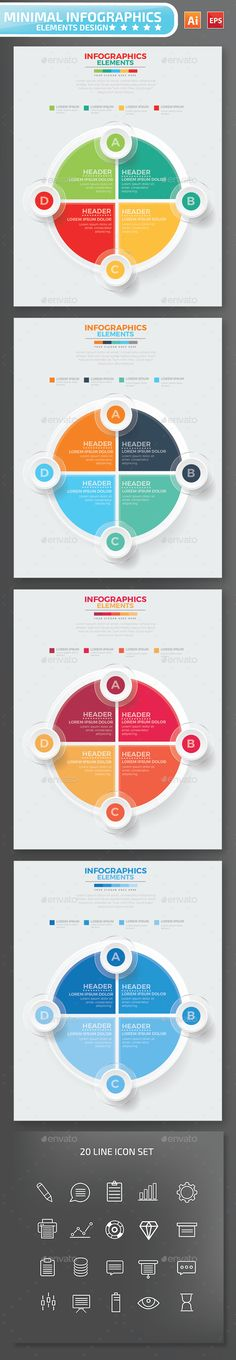 Modern Infographic Circle Template | Templates, Circles and Modern