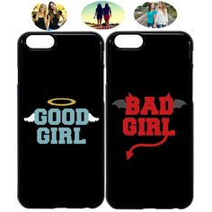 Good & Bad Girl Sister Best Friend Phone Case Cover For iPhone X XR 6 7 - Bestfriend Phone Cases - Ideas of Bestfriend Phone Cases - Good & Bad Girl Sister Best Friend Phone Case Cover For iPhone X XR 6 7 Price : Bff Iphone Cases, Bff Cases, Iphone 8, Girl Phone Cases, Funny Phone Cases, Cute Cases, Diy Phone Case, Coque Iphone, Best Friend Cases