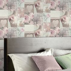 Arthouse Charlotte Montage Blush Wallpaper - Multi-Coloured - http://godecorating.co.uk/arthouse-charlotte-montage-blush-wallpaper-multi-coloured/