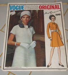 @Glam of God - I prefer the unbelted look. >> FAB Vnt VIGUE PARIS Original Designer MOLYNEUX Pattern   eBay