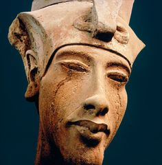 """grandegyptianmuseum: """"A colossal head of Amenhotep IV 'Akhenaten', from Karnak. New Kingdom, 18th dynasty, ca. 1351-1334 BC. Sandstone, height: 141 cms. Now in the Luxor Museum. """""""