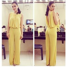 So pretty and fab! Max Collins wearing a KARIMADON Jumpsuit. Visit our stores now! Us Store, Ms, Retail, Jumpsuit, Celebrity, Pretty, Model, How To Wear, Dresses