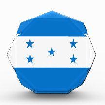 Flag of Honduras Acrylic Award flag, nation, banner, award, gift, acrylic, octagon, country, zazzle, smallbiz, ecommerce, dww25921