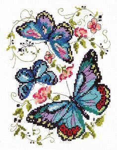 Cross Stitch Kit Blue Butterfly Art. 42-03