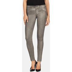 J Brand 620 Skinny Jean ($80) ❤ liked on Polyvore featuring jeans, denim skinny jeans, j brand, faded jeans, frayed skinny jeans and skinny leg jeans