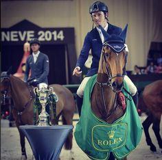 Congratulations to World Number One and Horseware Rider Scott Brash! He and Hello Sanctos took the 2014 Season by storm! He takes the Rolex Grand Slam win yesterday in Geneva! We want to know what in the water and where we can get some! #horseware #hellosanctos #champions #numberone #grandprix #class