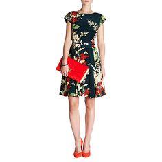 Buy Ted Baker Torella Bloom Print Dress, Dark Green Online at johnlewis.com