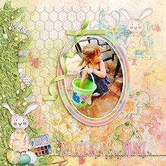 The Spirit of Spring Scrapbook Kit is bursting with bunnies, chicks, colored Easter eggs, and plenty of flowers and greenery for colorful Easter photos.  Kissed by watercolors in vivid reds, purples, teals, and bright yellows of the season, this digital kit is all about fun.