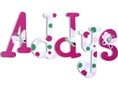 Wall Letters Hand Painted Letters Wooden por CuteBoutiqueLetters