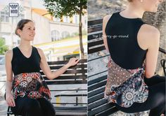 #moda #roupa #mulher #camisolas #tunicas #tops #presentes Top Merry-go-round | Limited edition: only 16 made | Size: U | Colors: Black, blue, pearl