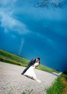 It needs no explanation. Awesome photos by Colleen Niskas from Bustle. #tornado #wedding #prepper #homesteader #minimalist