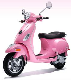Channel your inner Barbie riding around on Vespas new hot pink scooter..I love Vespas..I even love the color of this hot pink one even though this shade of pink makes the scooter look as though it had a run-in with a truck full of Pepto Bismol..but it would still be my second choice..I really would rather have one of their scooters in either purple or lavendar...fav colors you know??