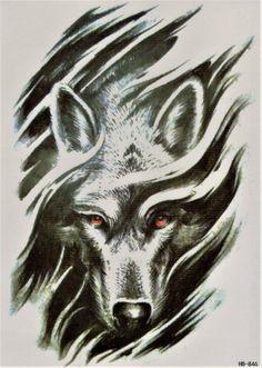 Waterproof Temporary Tattoo Sticker Goth psychic conjurator crow raven tatto stickers flash tatoo fake tattoos for men women 7 Wolf Tattoo Design, Tribal Wolf Tattoo, Wolf Tattoos Men, Wolf Tattoo Sleeve, Animal Tattoos, New Tattoos, Sleeve Tattoos, Tattoos For Guys, Tatoos