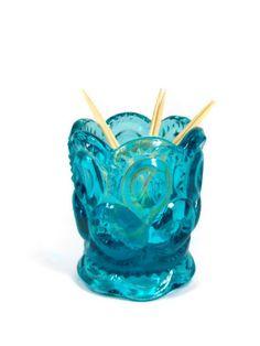 Aqua Glass Toothpick Holder Blue Moon and Stars L E Smith Retro Kitchen Aqua Glass, Star Patterns, My Happy Place, Blue Moon, Stars And Moon, Grandparents, Aqua Blue, Birthday Ideas, Decorative Bowls