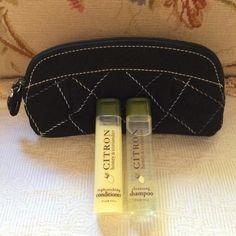 VERA BRADLEY Cosmetics Makeup Bag Pouch with CRABTREE & EVELYN Travel Samples #VeraBradley
