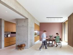 Semi-open kitchen and dining area