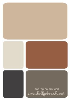 Color Board: Rust Brown and Greige | Design Boards
