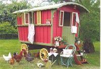 Gypsy Caravan and chickens