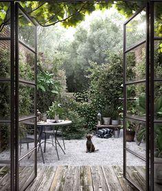 Outdoor Rooms, Indoor Outdoor, Outdoor Living, Indoor Garden, Back Gardens, Outdoor Gardens, Dream Garden, Garden Inspiration, Backyard Landscaping
