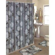 Latitude Run Lochian 15 Piece Shower Curtain Set Color: Gray