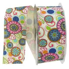 "the Ribbon Boutique 1 1/2"" Kawinky Floral Grosgrain Ribbon 
